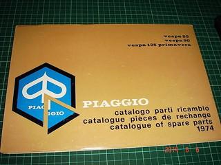 藏家必收 罕見 ~ 偉士牌 CATLOGUE 1974 ~ vespa 50、90、125 PIAGGIO台灣偉士伯