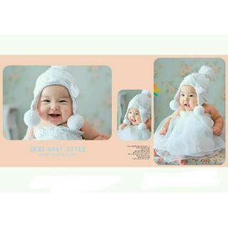 寶寶造型拍照服_兩件組白紗澎裙 60☆║團拍║攝影║嬰兒寫真║☆
