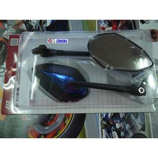 EQ摩托物流 MAGAZI後照鏡 XD鉻鏡 藍色 免運 新勁戰 BWS 雷霆 GOGORO