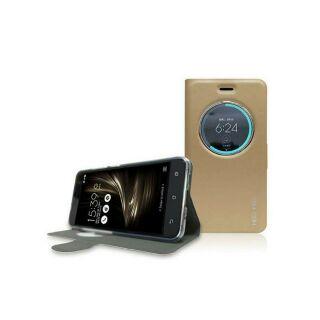ASUS ZenFone3 (ZE520KL) MEGA KING 視窗式側掀皮套 (金)