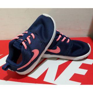 Nike 深藍橘勾兒童球鞋