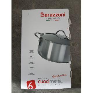 全新 義大利品牌 巴拉佐尼 Barazzoni 不鏽鋼鍋組 6件組 14公分牛奶鍋 28公分平底鍋 22公分湯鍋