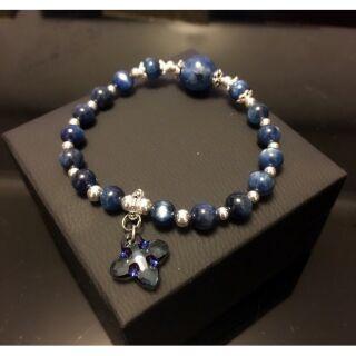 藍晶石奧地利水晶智慧手鍊