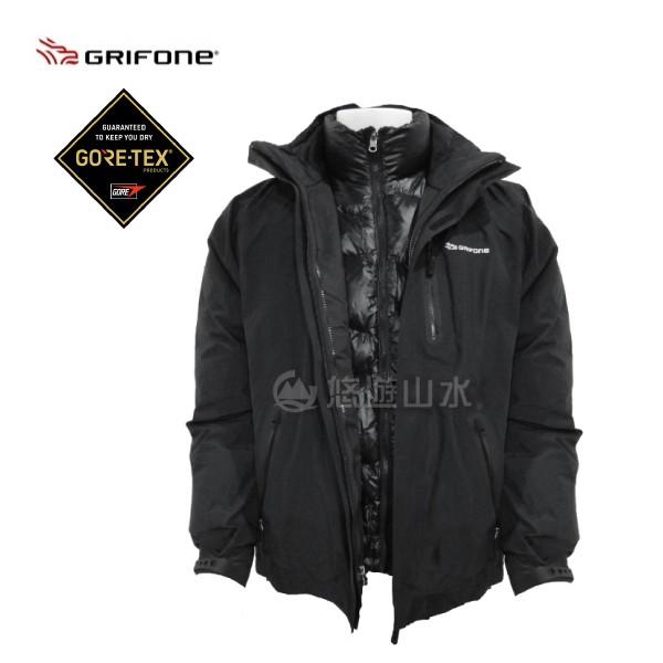 [現貨]GRIFONE 西班牙 GORE-TEX PERFORMANCE男款GTX 兩件式羽絨外套 黑/A5C008D
