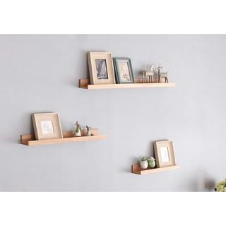 出口丹麥實木一字層板/簡約隔板/三色木紋掛板/牆上壁掛/電視櫃隔板
