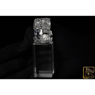 (衝評價銷中)白水晶祥獅印章 重:123g