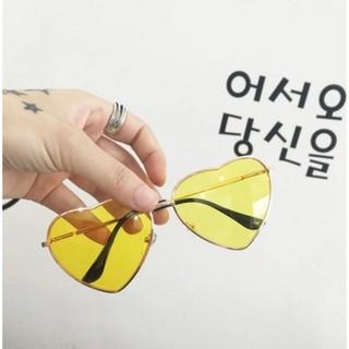 原宿風海洋片復古愛心墨鏡百搭軟妹透明愛心漸變墨鏡太陽眼鏡