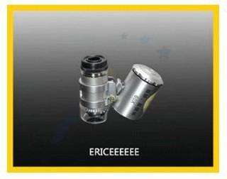9882 60X 迷你顯微鏡 放大鏡 帶驗鈔燈 2LED照明 可當驗鈔燈 印刷網點