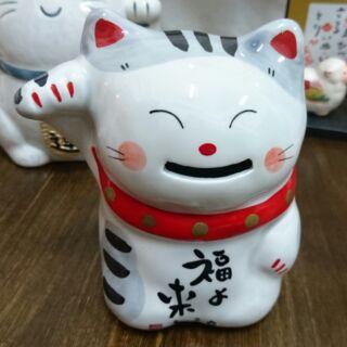日貨特賣 日本帶回 藥師窯  福來招財貓 存錢筒