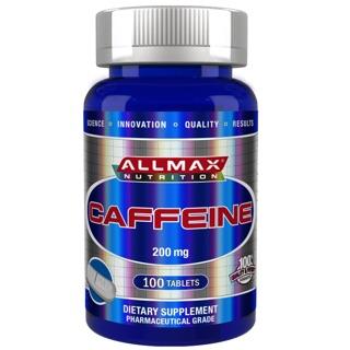 【全新現貨】原裝正品!ALLMAX Nutrition 100% 純 咖啡因 200mg 100錠 熬夜提神健身必備