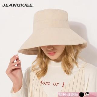 沙灘帽JEANQIUEE 帽子女夏天遮陽帽韓版防曬帽漁夫帽出游盆帽 【媽咪寶貝】