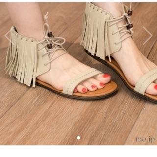Minnetonka x earth流蘇涼鞋