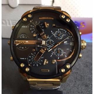 現貨送錶盒 Diesel迪賽手錶 男錶 DZ7331 時尚黑色手錶 石英手錶 皮帶手錶 大盤手錶 生日禮物 交換禮物