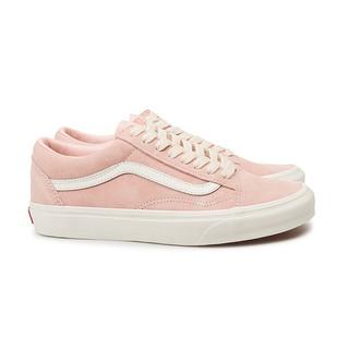 VANS OLD SKOOL 經典白線 淡粉色 男女鞋