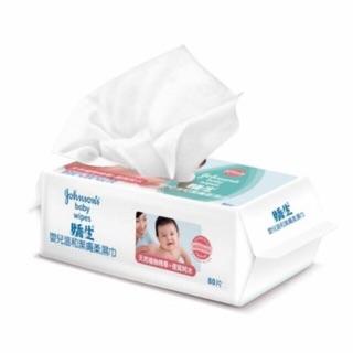 嬌生 嬰兒溫和潔膚柔濕巾 濕紙巾 80抽
