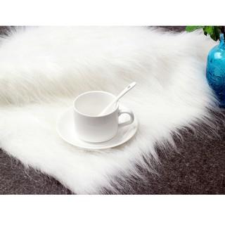 櫃檯布料毛毯白色長毛展示布包包鞋子首飾飾品裝飾布150