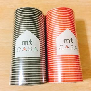 mt CASA 超寬紙膠帶 紅條紋&黑條紋