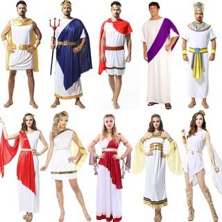 萬圣節服裝cosplay化妝舞會埃及男法老服裝成人古希臘女艷后長袍