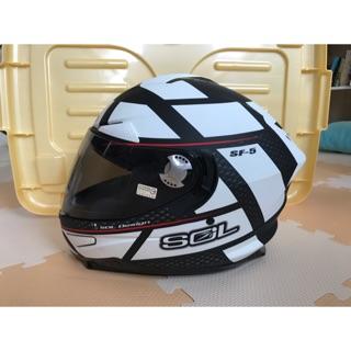 SOL SF-5 Alpha 阿爾法消光黑白安全帽