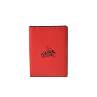 現貨供應-©加州GO© COACH 59411 紅色皮革護照夾 米奇聯名限量款