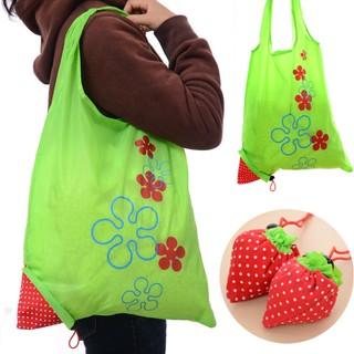 大容量卡通便攜草莓購物袋折疊袋草莓購物袋草莓袋超市手提袋環保袋E8014