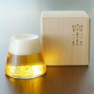 創意杯具 富士山杯 啤酒杯 玻璃杯 酒杯 小酒杯 生日禮物 畢業禮物 情人節禮物 教師節禮物 木盒裝酒杯