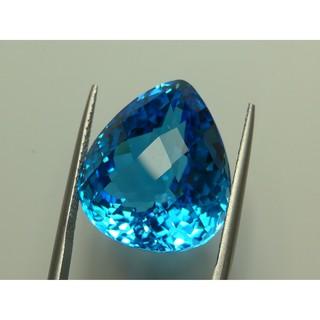 天然拓帕石 裸石 34.1克拉 瑞士藍