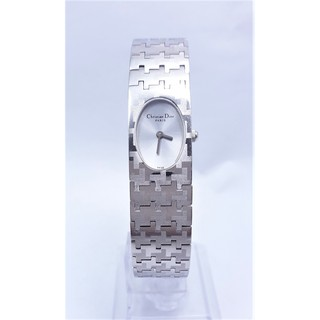 【Jessica潔西卡小舖】真品 Christian Dior 克里斯汀·迪奧 CD 經典方形石英女錶,附精美錶盒