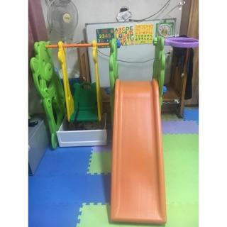三合一溜滑梯盪鞦韆籃球框  室內盪鞦韆溜滑梯  兒童溜滑梯盪鞦韆