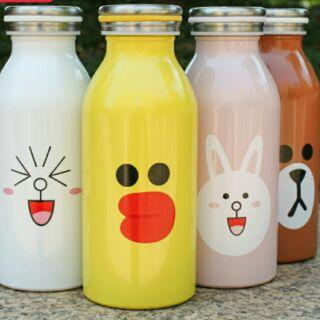 LINE表情牛奶罐造型保溫瓶