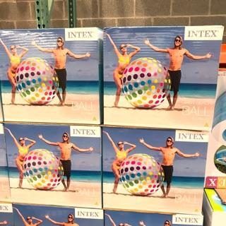 Intel 大型海灘充氣球️直徑183cm 圓點普普可愛風 戶外水上活動 夏季必備 好市多costco代購
