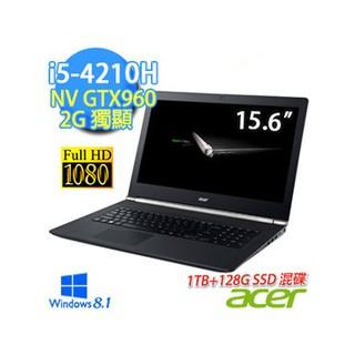 兜兜代購-Acer VN7-591G-505B 15.6吋 i5-4210H Win8.1 GTX 960-2G獨顯 F