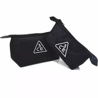 「現貨」韓國3ce化妝包黑刺繡化妝包點點刺繡化妝包彩色塗鴉化妝包黑白塗鴉化妝包