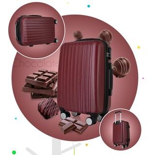 【出清下殺】嚴選ABS材質靜音煞車飛機輪行李箱 20吋繽紛螢光色耐磨防刮硬殼拉鍊旅行箱  密碼鎖拉桿箱