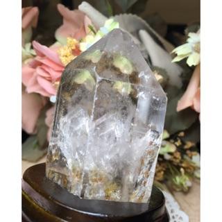 天然 原礦 喜馬拉雅 白水晶 晶中晶 金字塔幻影 白幽靈 超清透 白水晶柱 女神 艾希斯 水晶 擺件 療癒 冥想 靈修