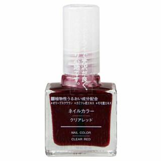 日本無印良品血色指甲油