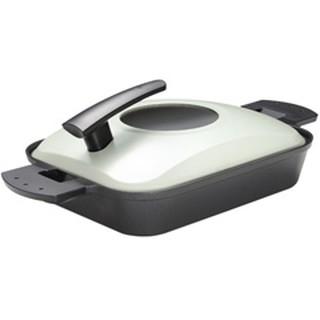 日本製UCHICOOK第二代水蒸氣式健康蒸煮燒烤盤 (黑色)