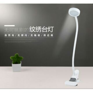 美睫燈,紋繡燈(便携充電美容/美甲/美睫燈 LED護眼冷光燈美甲美睫燈 360度隨手調節,暖白光護眼(自然光)