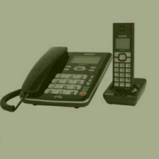 sanyo台灣三洋DCT-8906高頻2.4GHZ無線電話親子機黑色