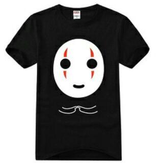 無臉男T恤衣服  黑色