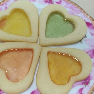 彩色糖果玻璃餅乾❤