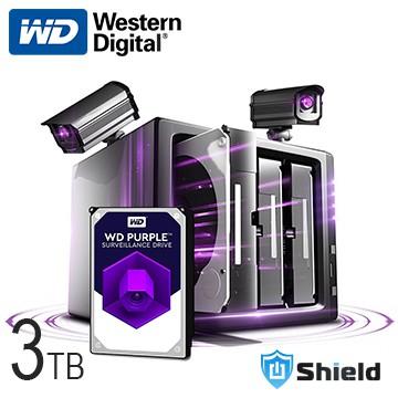 Shield神盾安控|WD紫標3.5吋3TB監控專用碟|WD30PURZ WD30PURX|公司貨3年保固|全新附發票