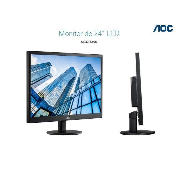 [哈GAME族]AOC M2470SW 24吋 液晶顯示器 LED HDMI 寬螢幕 支援壁掛