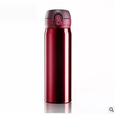 『現貨滿699免運』304不鏽鋼彈蓋輕量真空雙層隔熱隨身保溫杯 保溫瓶 500ml 泡泡先生 非星巴克 膳魔師