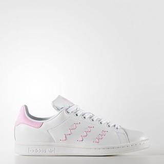 【優莎】adidas Stan Smith 粉紅 閃電 縫線 粉線 BZ0401