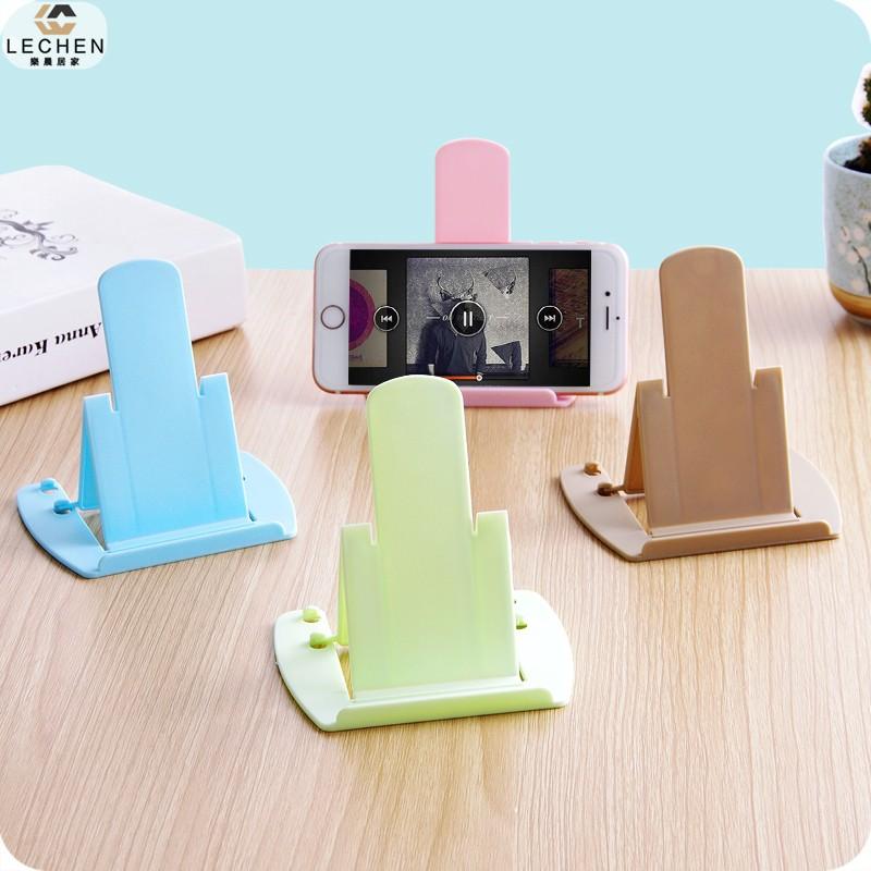 卡片式手機支架 可調節方便攜帶懶人手機座 可折疊床頭桌面手機架【樂晨居家】