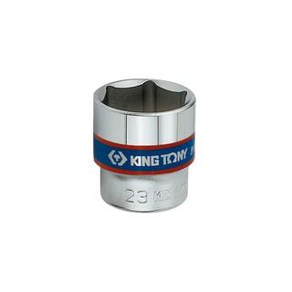 "KING TONY 3335M 3/8"" 3分 公制六角標準套筒 6角短白套筒"