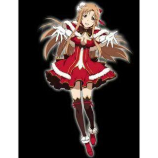二手cosplay 刀劍神域 亞絲娜 聖誕