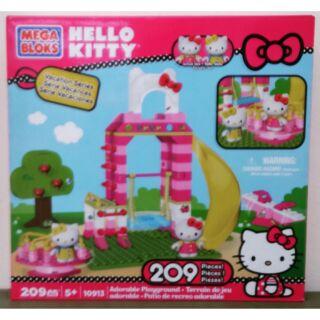 凱蒂貓 MEGA BLOKS Hello Kitty 溜滑梯公園組