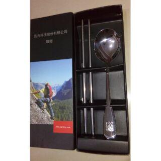 karrimor 18/10 316食品級不鏽鋼湯匙 筷子 兩入組 環保筷 環保餐具 不銹鋼